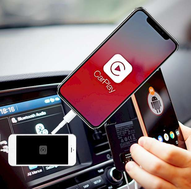 Connect car online using phone