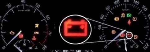 battery warning light