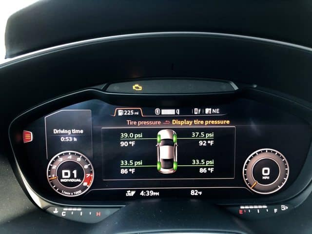 sick tire pressure monitoring system display
