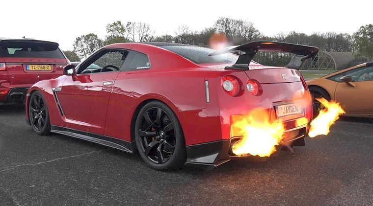 cars to shoot flames
