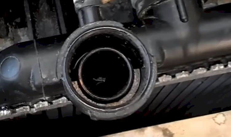 Leaking coolant