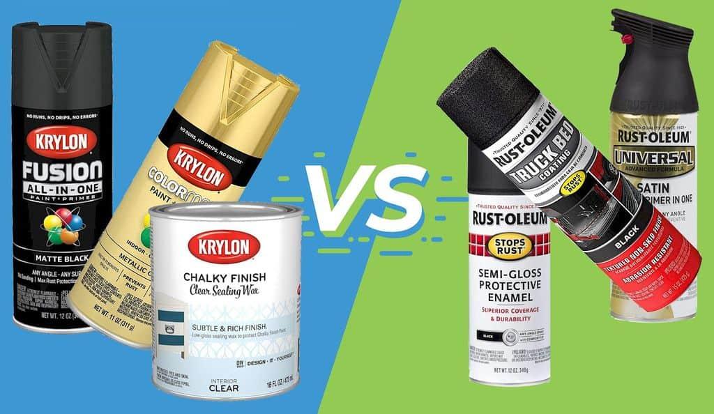 Krylon vs Rust-Oleum